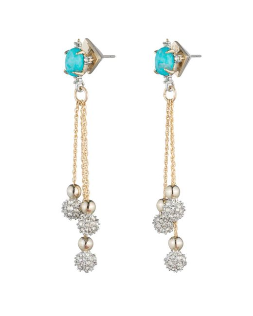 Alexis Bittar | Multicolor Crystal Encrusted Dangling Sphere Post Earring You Might Also Like | Lyst