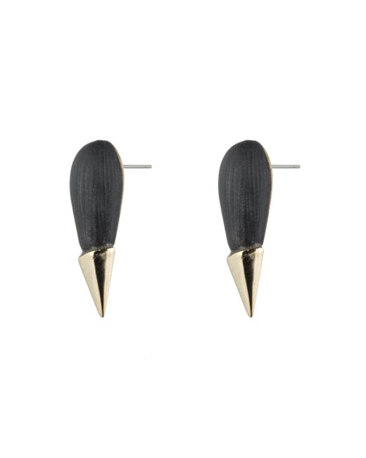 Alexis Bittar | Black Gold Capped Spike Stud You Might Also Like | Lyst