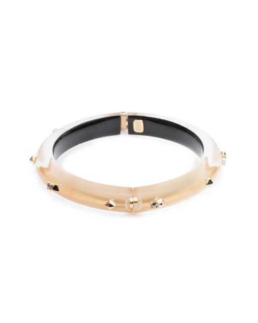Alexis Bittar - Metallic Golden Studded Hinge Bangle Bracelet You Might Also Like - Lyst