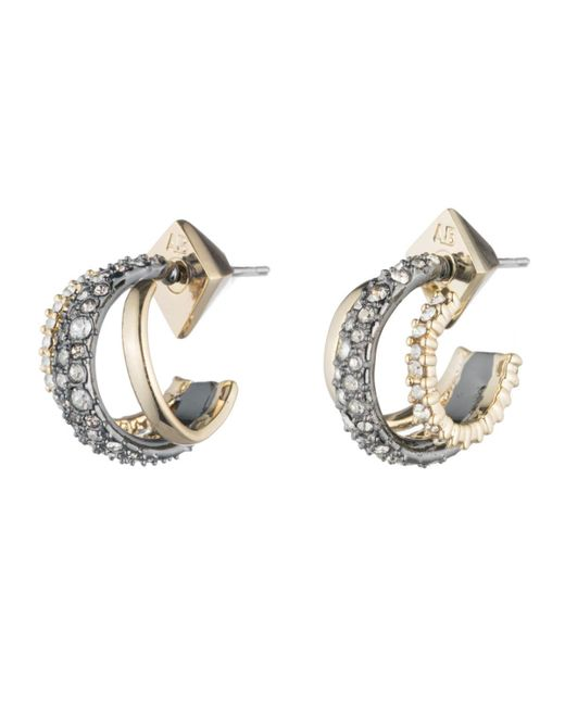 Alexis Bittar - Metallic Crystal Encrusted Orbiting Hoop Earring You Might Also Like - Lyst
