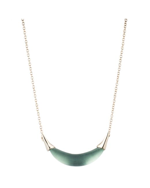 Alexis Bittar   Metallic Two-tone Spiked Crystal Pendant Necklace   Lyst