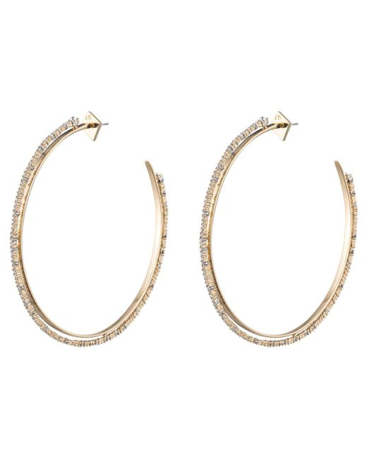 Alexis Bittar | Metallic Oversized Crystal Lace Orbiting Hoop Earring You Might Also Like | Lyst