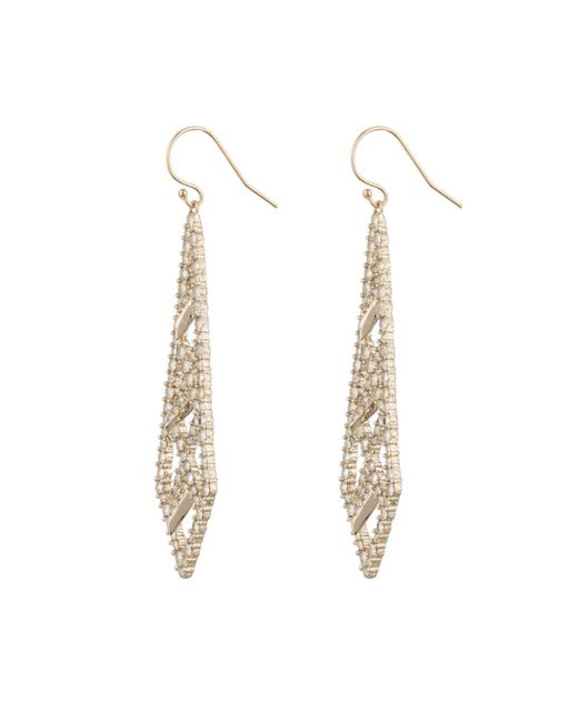Alexis Bittar   Metallic Crystal Encrusted Spiked Lattice Wire Earring You Might Also Like   Lyst