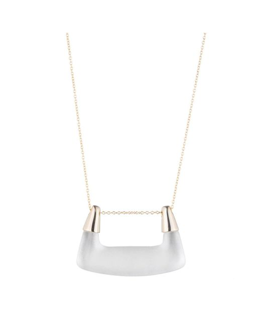 Alexis Bittar | Metallic Buckle Shape Lucite Pendant Necklace You Might Also Like | Lyst