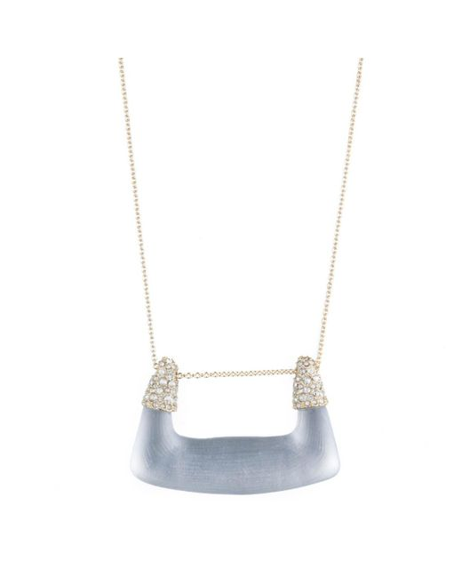 Alexis Bittar - Gray Buckle Shape Lucite Pendant Necklace You Might Also Like - Lyst