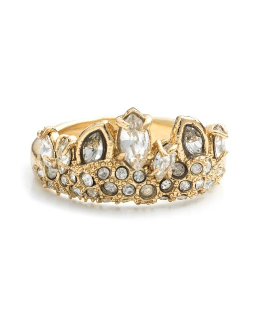 Alexis Bittar | Metallic Gold Jagged Marquis Crystal Cluster Ring You Might Also Like | Lyst