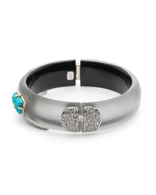 Alexis Bittar | Gray Crystal Encrusted Fancy Shield Hinge Bracelet You Might Also Like | Lyst
