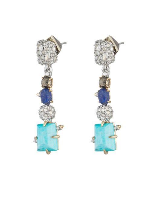 Alexis Bittar - Multicolor Crystal Accented Fancy Stone Dangling Post Earring You Might Also Like - Lyst