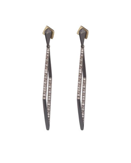 Alexis Bittar   Black Crystal Encrusted Diamond Shape Dangling Post Earring You Might Also Like   Lyst