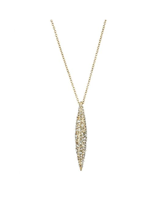 Alexis Bittar - Metallic Gold Crystal Encrusted Spear Necklace - Lyst