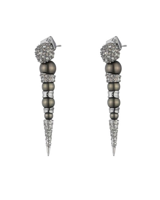 Alexis Bittar | White Crystal Encrusted Dangling Pearl Post Earring You Might Also Like | Lyst
