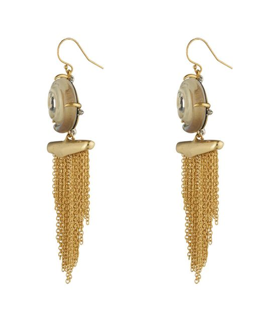 Alexis Bittar   Multicolor Crystal Studded Shell Tassel Wire Earring You Might Also Like   Lyst