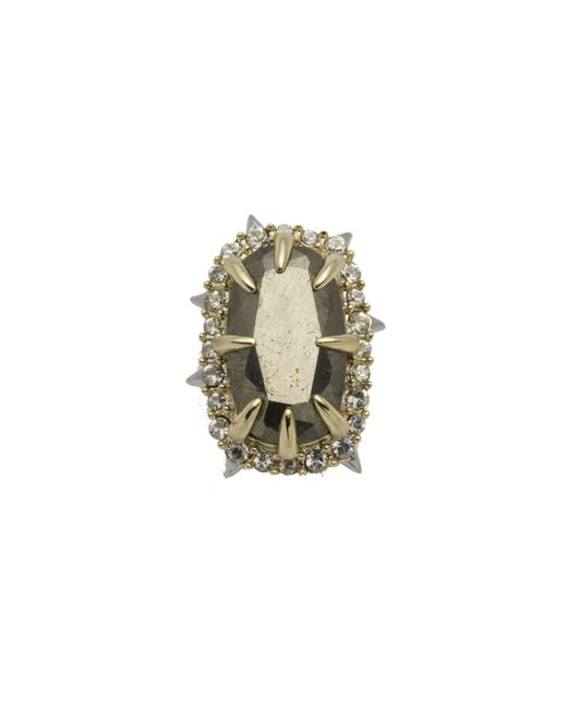 Alexis Bittar Natural Two Tone Pyrite Stone Slide You Might Also Like