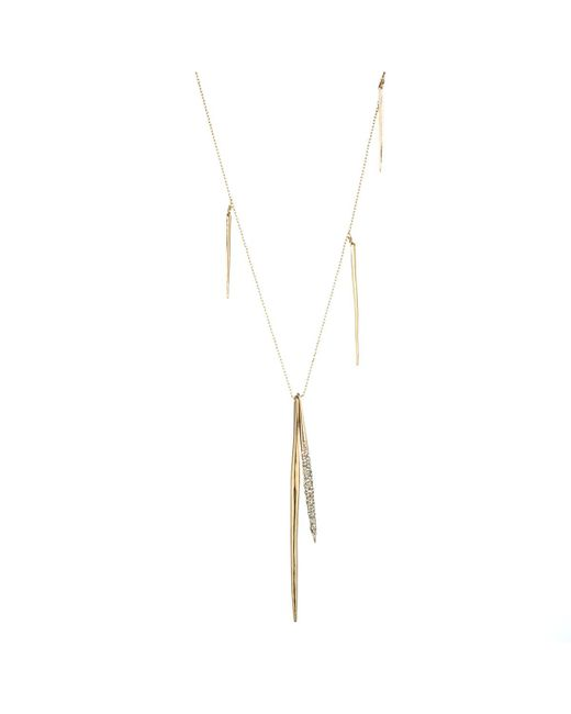 Alexis Bittar - Metallic Crystal Encrusted Long Spear Necklace - Lyst