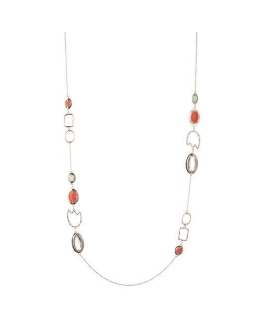 Alexis Bittar - Multicolor Crystal Encrusted Abstract Tulip Stone Station Necklace - Lyst