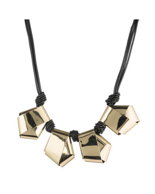 Alexis Bittar - Metallic Folded Knot Reversible Necklace - Lyst