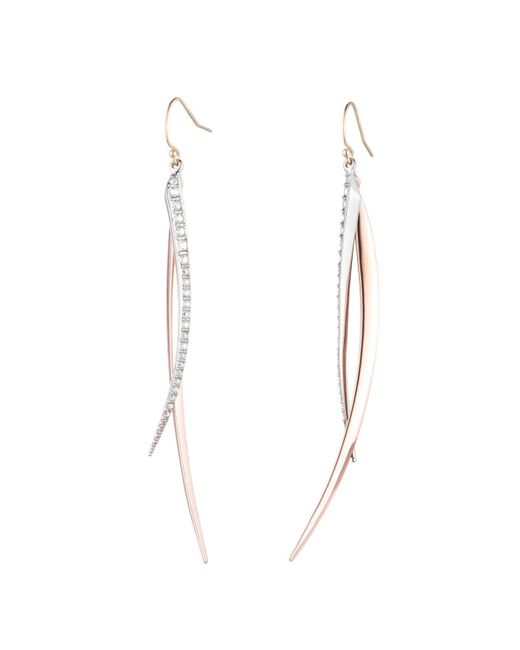 Alexis Bittar | Multicolor Two-tone Crystal Encrusted Spear Wire Earring You Might Also Like | Lyst