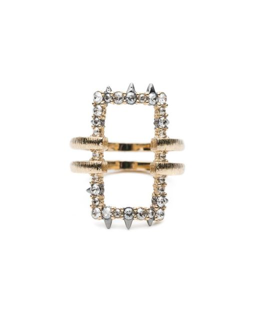 Alexis Bittar - White Crystal Encrusted Oversize Link Ring You Might Also Like - Lyst