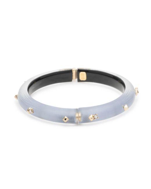 Alexis Bittar - Multicolor Golden Studded Hinge Bracelet - Lyst