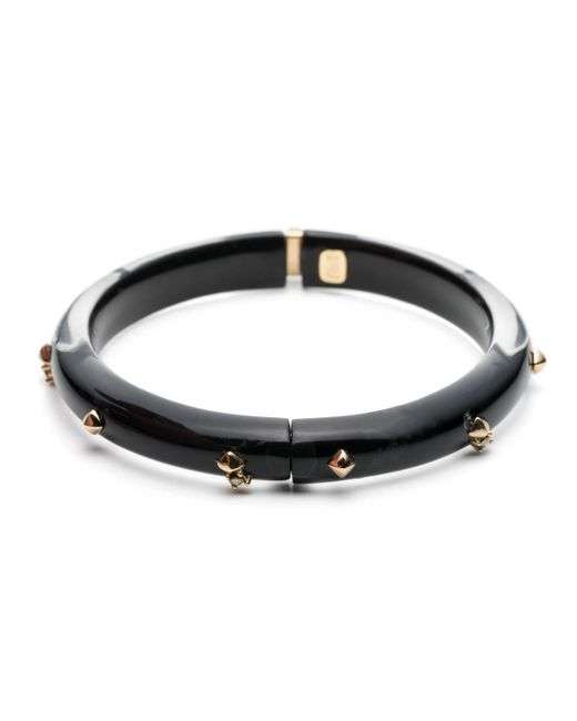 Alexis Bittar - Black Golden Studded Hinge Bangle Bracelet You Might Also Like - Lyst