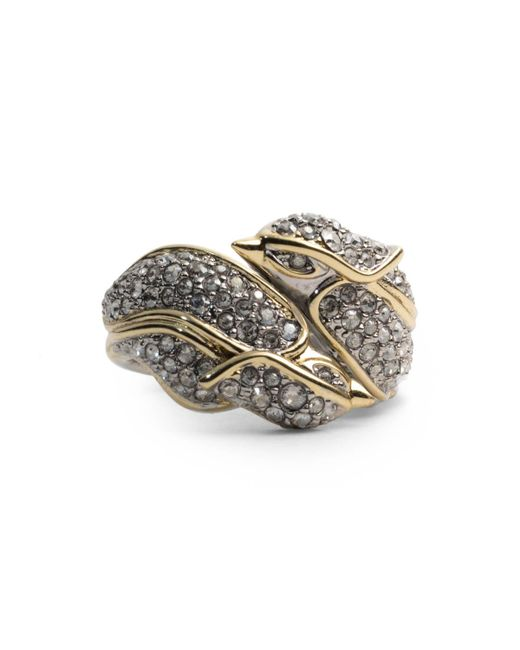 Alexis Bittar - Metallic Crystal Encrusted Secret Lovebirds Ring - Lyst