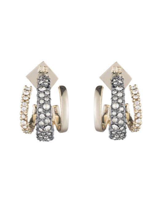 Alexis Bittar Metallic Crystal Encrusted Orbiting Hoop Earring You Might Also Like