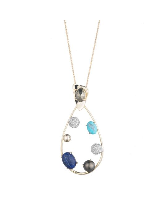 Alexis Bittar - Multicolor Multi-stone Crystal Accented Modernist Pendant Necklace You Might Also Like - Lyst