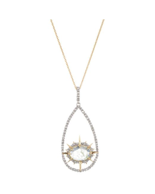 Alexis Bittar   Metallic Aqua Crackle Crystal Encrusted Long Pendant Necklace You Might Also Like   Lyst