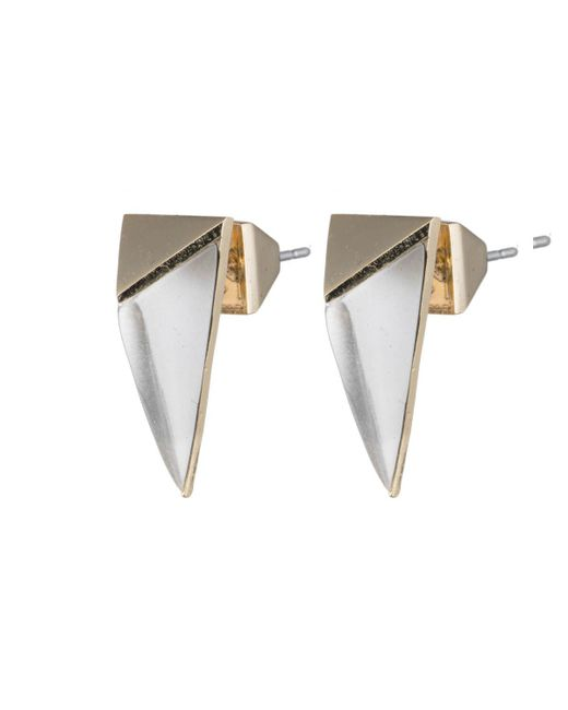 Alexis Bittar - Metallic Faceted Pyramid Post Earring You Might Also Like - Lyst