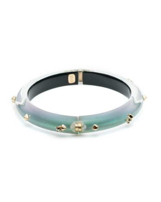 Alexis Bittar - Multicolor Golden Studded Hinge Bangle Bracelet You Might Also Like - Lyst
