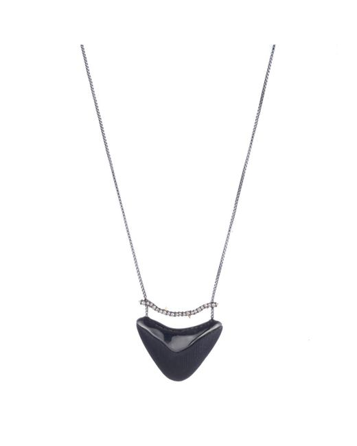 Alexis Bittar - Black Crystal Encrusted Bar And Shield Pendant Necklace - Lyst