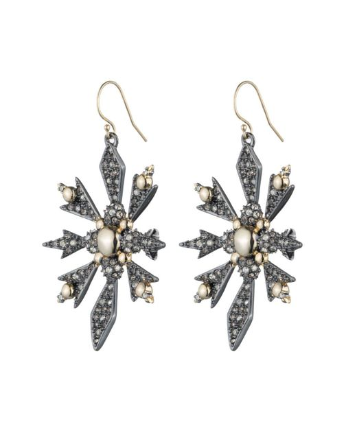 Alexis Bittar | Metallic Crystal Encrusted Snowflake Wire Earring You Might Also Like | Lyst