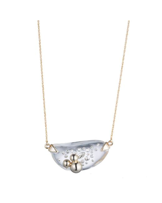 Alexis Bittar | Metallic Liquid Lucite With Diamond Dust Pendant Necklace You Might Also Like | Lyst