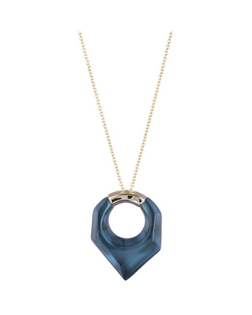 Alexis Bittar | Blue Faceted Pentagon Pendant Necklace You Might Also Like | Lyst