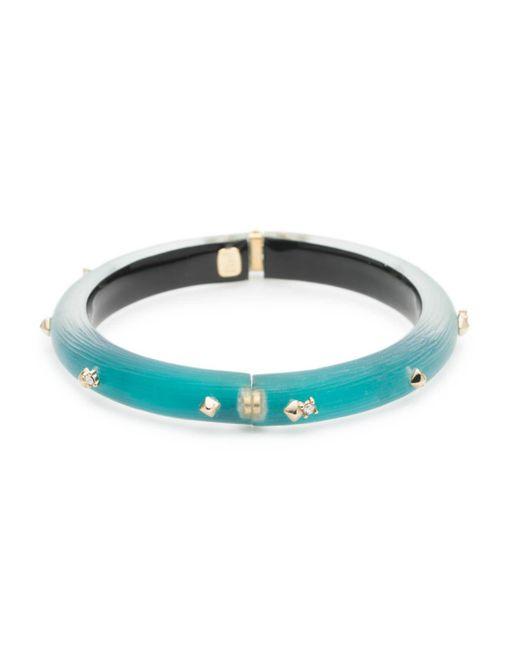 Alexis Bittar - Blue Crystal Studded Hinged Bracelet - Lyst