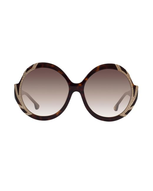 Alice + Olivia | Multicolor Stacey Crystal Sunglasses | Lyst
