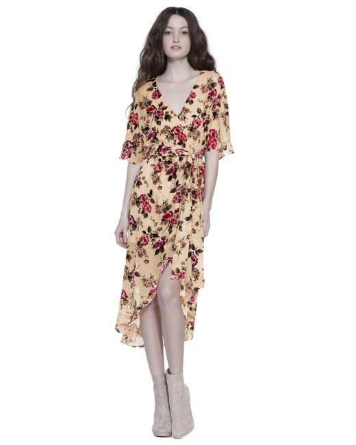 Alice + Olivia - Multicolor Clarine Wrap Midi Dress - Lyst