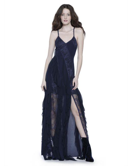 Alice + Olivia - Blue Jayda Godet Maxi Dress - Lyst