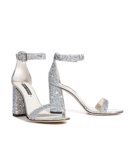 Alice + Olivia - Metallic Lillian Block Heel Sandals - Lyst