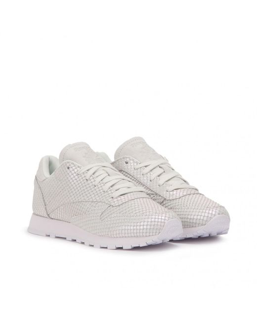 Reebok - Gray Classic Leather Textural W for Men - Lyst ... 6a7e1a02f