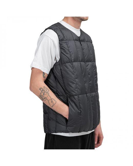 Snow Peak Recycled Middle Down Vest in Black für Herren