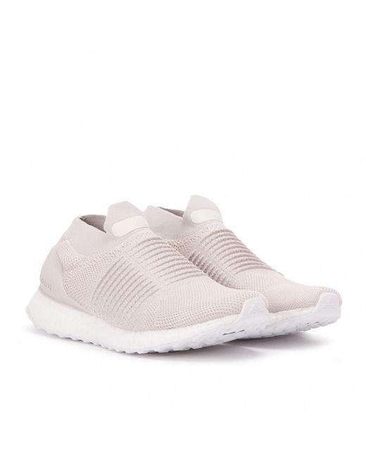 buy popular 2e833 2a422 Adidas - White Ultra Boost Laceless for Men - Lyst ...