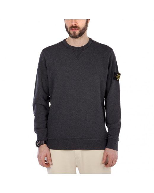Stone Island - Gray Sweat Shirt Crewneck for Men - Lyst