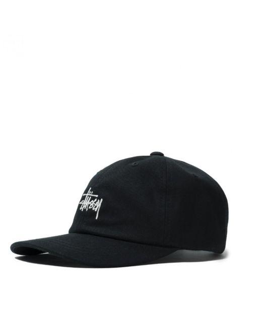 79139517e0dc2 Stussy Stock Low Pro Cap in Black for Men - Lyst