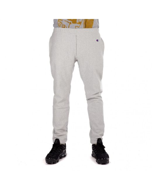 Champion - Gray X Beams Reverse Weave Cuff Pant for Men - Lyst