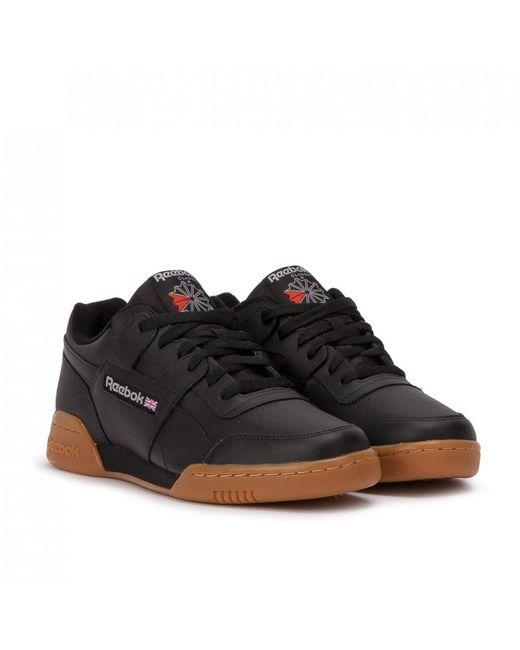 Reebok Black Workout Plus Casual Training Shoes for men