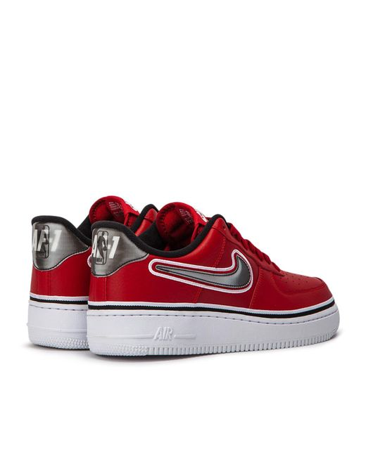 0345f1ccec6 Lyst - Nike Nba Air Force 1  07 Sport Trainers In Red Aj7748-600 in ...
