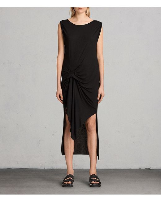 AllSaints - Black Riviera Tavi Dress - Lyst