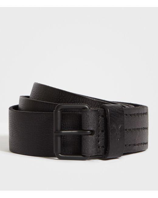 AllSaints Black Dunston Leather Belt for men