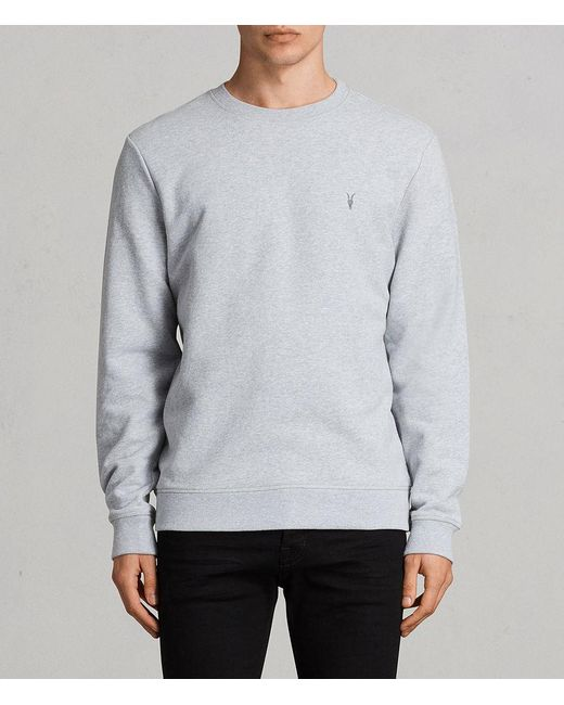 AllSaints - Gray Raven Sweatshirt for Men - Lyst